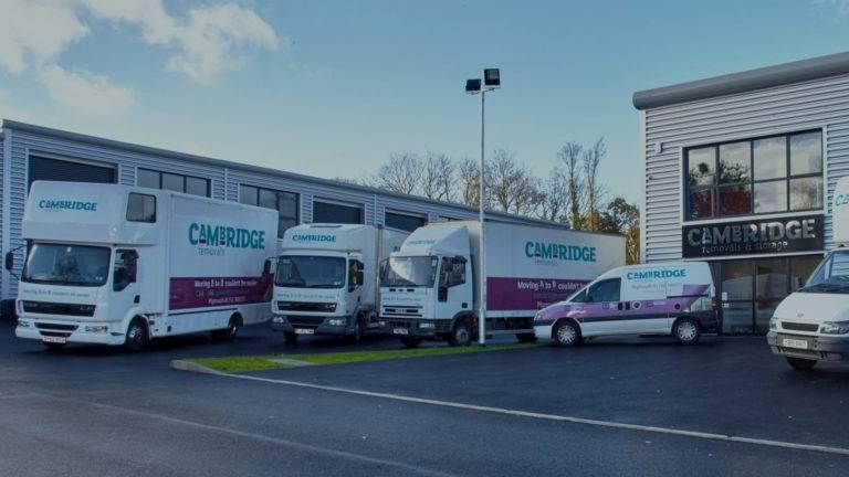 Fleet of Cambridge removals vehicles